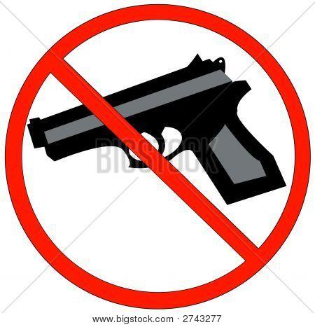 Hand Gun With No Symbol