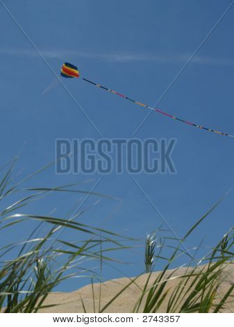 Kite Flying Above Sand Dunes, Jersey Shore