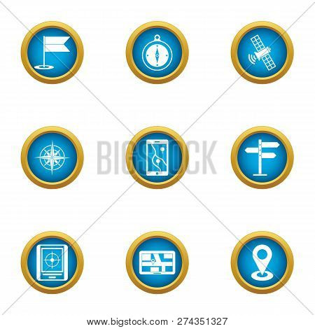 Browsing Icons Set. Flat Set Of 9 Browsing Icons For Web Isolated On White Background