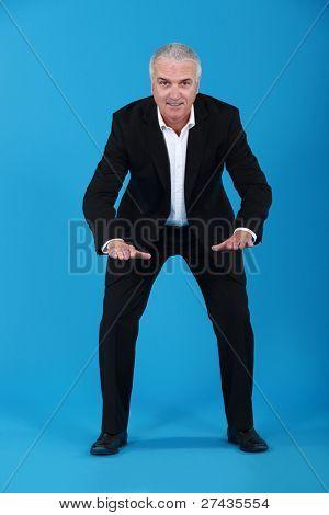Businessman ready
