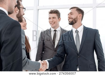 business partners at a meeting in the office.