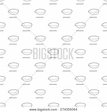 Evaporating Dish Icon In Outline Style Isolated On White Background Illustration