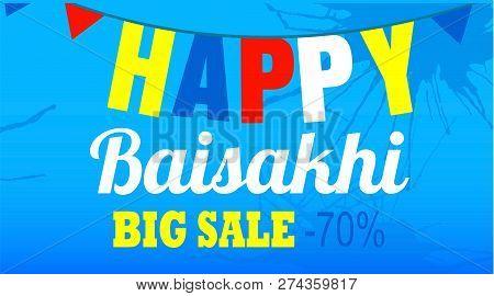 Final Sale Happy Baisakhi Concept Banner. Cartoon Illustration Of Final Sale Happy Baisakhi Concept