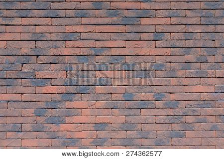 Colorful Background Brick Wall Without Cement Joints