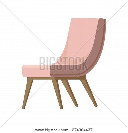 Chair Cute Furniture Armchair And Seat Pouf Design In Furnished Apartment Interior Illustration Of B