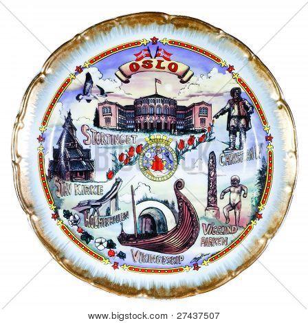 Souvenir Plate Depicting The Oslo