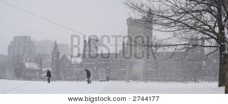 Snow Dumping On Campus