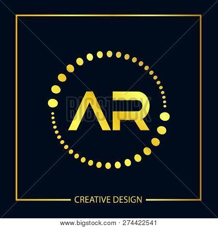 Initial Letter Ar Logo Template Vector Design