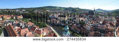 Blick über die Stadt Krumau, Tschechische Republik