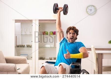 Injured man recovering from his injury poster