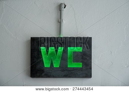 Restroom Signs In Public Place. Important Signs And Symbols Concept. Simple Sign Of Wc. Restroom Con
