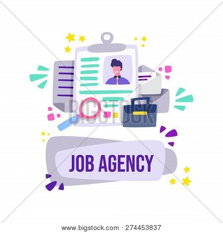 Job Agency Commonwealth Employment Service. Private Employment Agency. Cartoon Vector