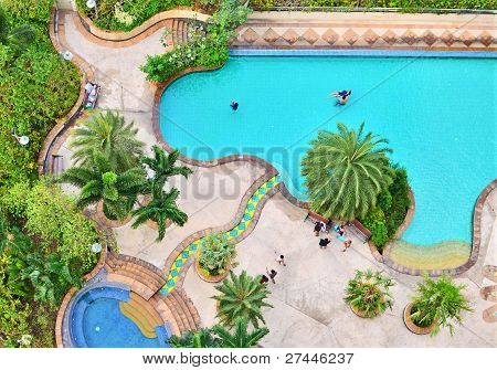 Top View Of Swimming Pool