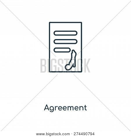 Agreement Icon In Trendy Design Style. Agreement Icon Isolated On White Background. Agreement Vector