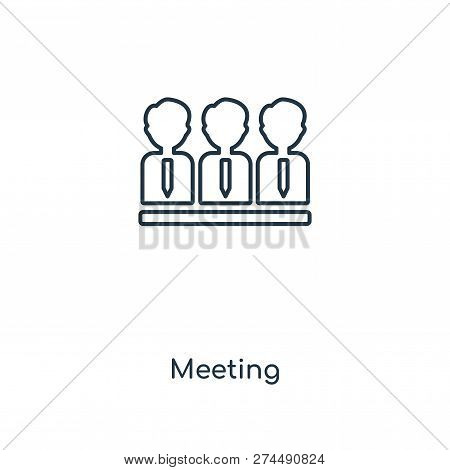 Meeting Icon In Trendy Design Style. Meeting Icon Isolated On White Background. Meeting Vector Icon