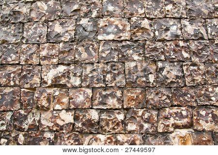 Knapped Flint Wall 8940