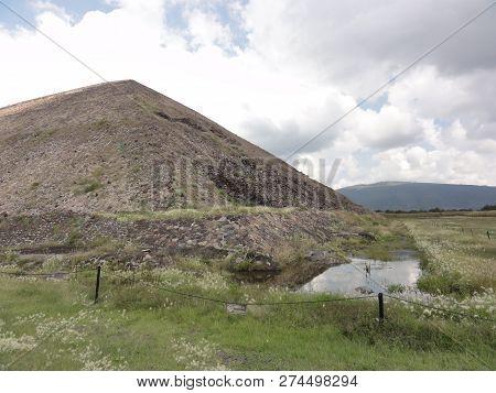Pyramids of Teotihuacán, Mexico. Museo de Sitio - Museum of Teotihuacan in Mexico. poster