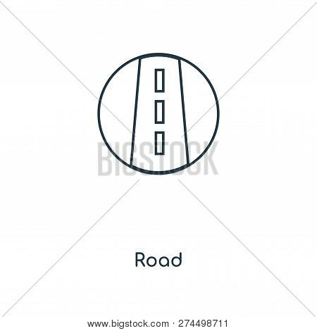Road Icon In Trendy Design Style. Road Icon Isolated On White Background. Road Vector Icon Simple An