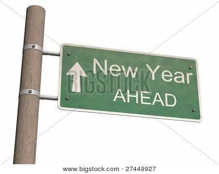 New Year 2012 Sign