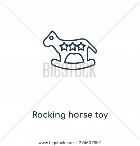 Rocking Horse Toy Icon In Trendy Design Style. Rocking Horse Toy Icon Isolated On White Background.