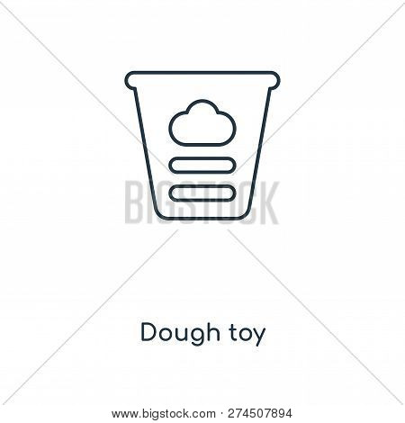 Dough Toy Icon In Trendy Design Style. Dough Toy Icon Isolated On White Background. Dough Toy Vector