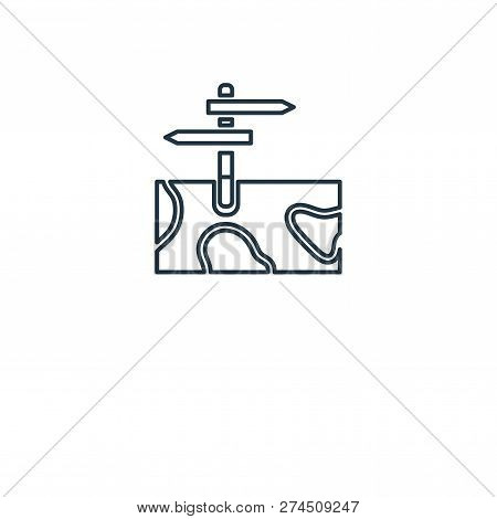 Sign Post Icon In Trendy Design Style. Sign Post Icon Isolated On White Background. Sign Post Vector
