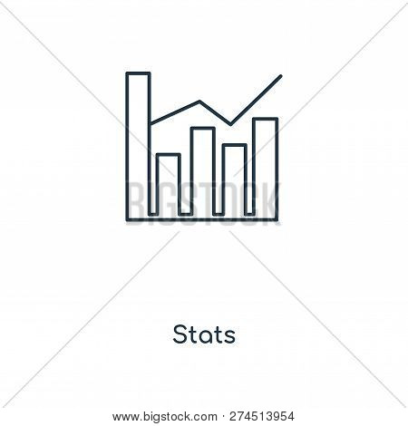 stats icon in trendy design style. stats icon isolated on white background. stats vector icon simple and modern flat symbol for web site, mobile, logo, app, UI. stats icon vector illustration, EPS10. poster