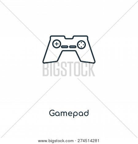 gamepad icon in trendy design style. gamepad icon isolated on white background. gamepad vector icon simple and modern flat symbol for web site, mobile, logo, app, UI. gamepad icon vector illustration, EPS10. poster