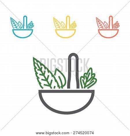 Naturopathy Line Icon. Simple Colored Element Illustration. Naturopathy Icon Design From Medicine Se