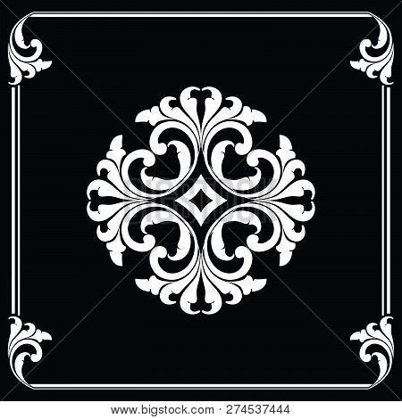 Antique Black Ornaments, Baroque Ornaments, Scroll Ornaments, Border Carving Ornaments, Floral Ornam