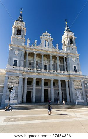 Almudena Cathedral. Cathedral Of The Archdiocese Of Madrid.