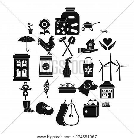 Grange Icons Set. Simple Set Of 25 Grange Icons For Web Isolated On White Background
