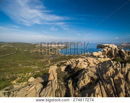 Capo D'orso Palau Sardinia Italy. View of the Bear rock. East of the port of Palau. Costa Smeralda Sardinia Italy poster