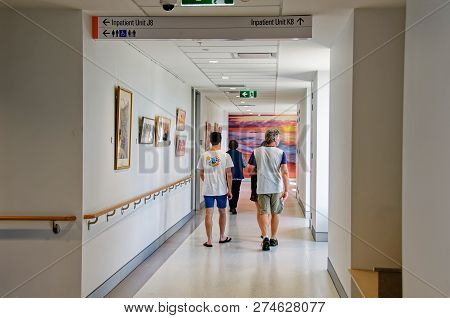 New South Wales, Australia - September 29, 2018: Construction And Building Work On Gosford Hospital