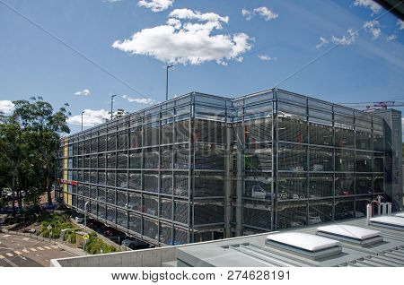 Gosford, New South Wales, Australia - September 29, 2018: Construction And Building Work On Gosford
