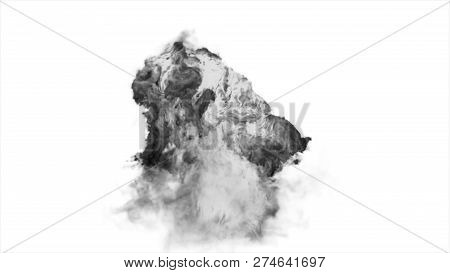 Big Smoke Explosion Effect Black Background, Realistic Explosions Boom, Realistic Fiery Explosion Ov