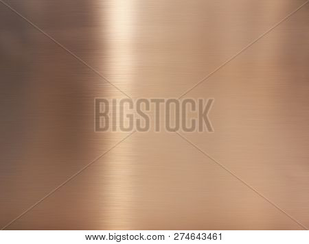 Golden Hairline Stainless Steel. Shiny Gold Foil, Bronze, Or Copper Metal Pattern Surface Texture. C