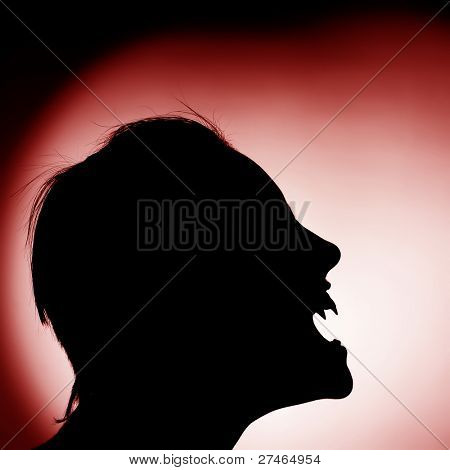 silhouette of vampire