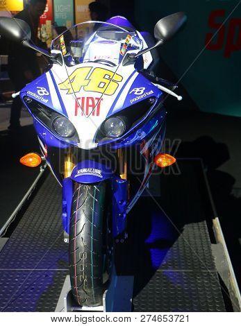 Kuala Lumpur, Malaysia - December 1,2018 :the Yamaha Fiat No 46 Bike, Ridden By Valentino Rossi