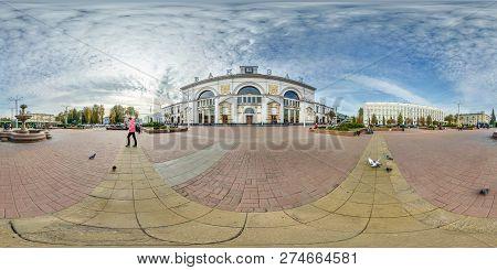 Vitebsk, Belarus - October 2018: Full Seamless Spherical Panorama 360 Degrees Angle View Near Provin