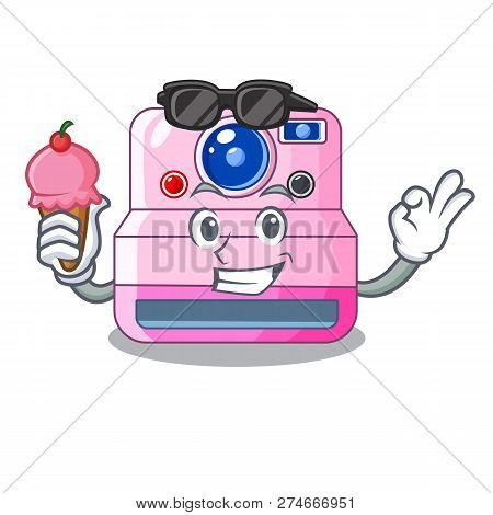 With Ice Cream Instant Camera With Revoke Cartoon Picture