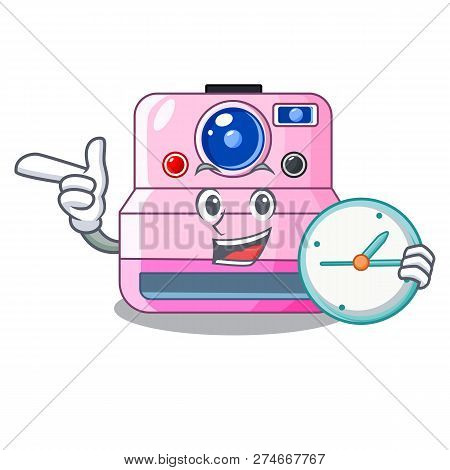 With Clock Instant Camera With Revoke Cartoon Picture