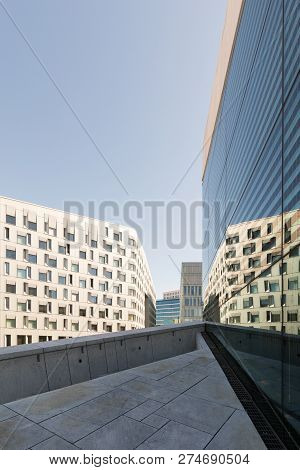 Oslo. Modern Architecture. Popular Buildings Of Scandinavian Architecture In Center Of City.