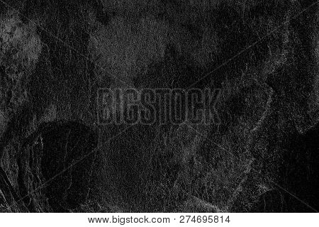 Dark Grey Black Slate Background Or Texture; Surface Wall Of Stone Wall Dark Grey Tones For Use As B