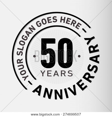 50 Years Anniversary Logo. 50th Vector And Illustration.
