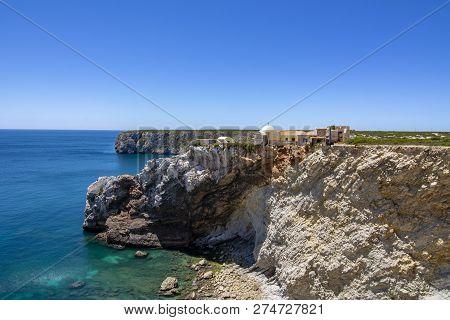 The Medieval Forte Do Beliche Near Cabo De Sao Vicente In Algarve, Portugal
