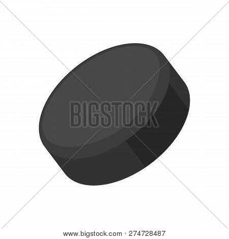 Traditional Hockey Puck. Sports Equipment, Game, Period. Can Be Used For Topics Like Competition, Le