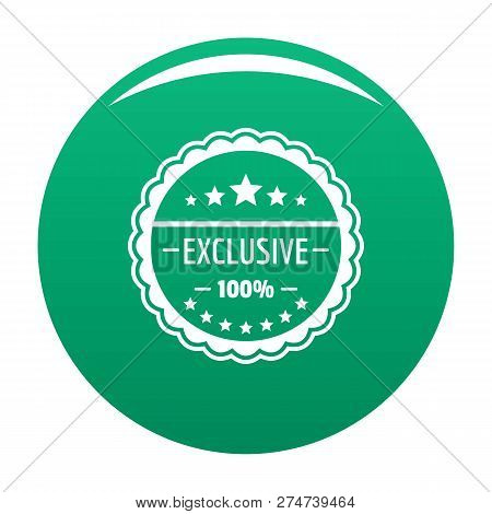 Exclusive Logo. Simple Illustration Of Exclusive Vector Logo For Any Design Green
