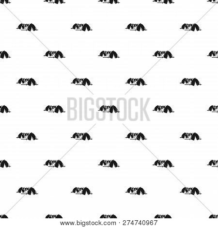 Homeless Tent Camp Pattern Seamless Vector Repeat For Any Web Design