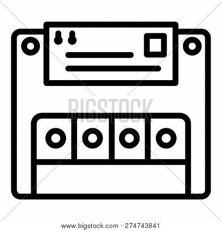 Electric Commutator Icon. Outline Electric Commutator Vector Icon For Web Design Isolated On White B